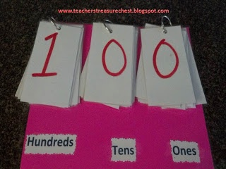 The Teacher's Treasure Chest : Great for teaching place value!