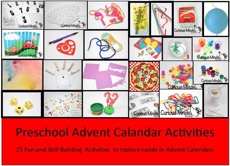 Advent Calendar Preschool : Change up your advent calendar this christmas by using