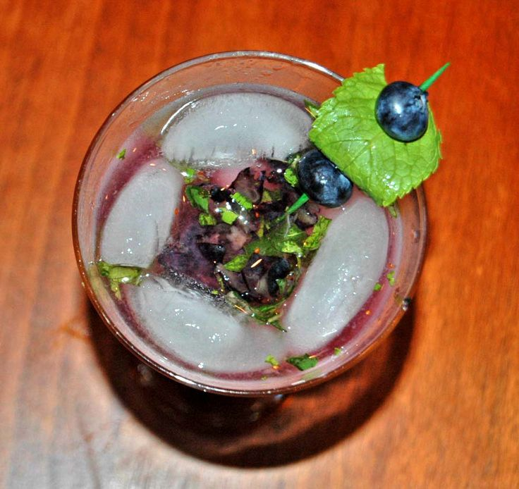 LYK Relaxation Station: Blueberry Basil Mojito | From the Little Yellow Kitchen