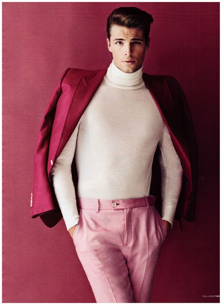 Pink | Male Model | Color | Edward Wilding by Dan Smith For 7TH Man Magazine | Menswear