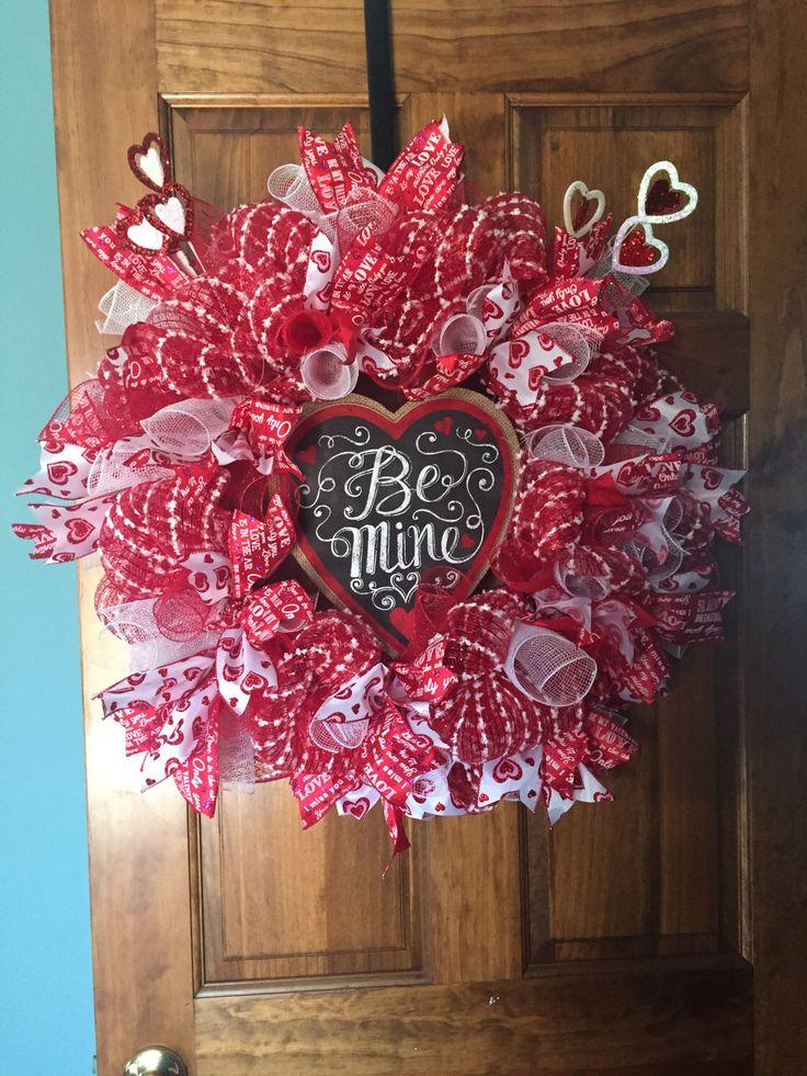Valentineu0027s Day wreath by ADoornableWreaths on Etsy