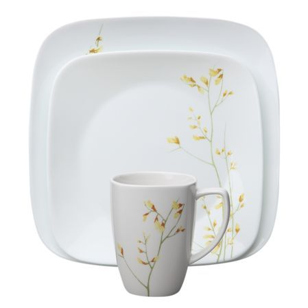 2 sets of Corelle® Square™ dinnerware features sleek squared shapes with rounded corn.  sc 1 st  Pinterest : corelle squared pattern dinnerware - pezcame.com
