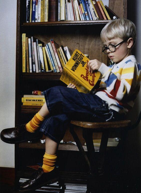 Kids as David Hockney by Ophelia Wynne for Milk Magazine