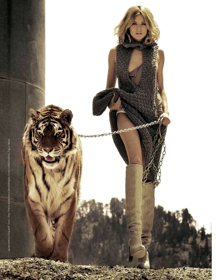 i look like this when walking my tiger...
