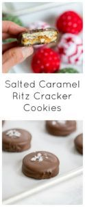 Salted Caramel Ritz Cracker Cookies