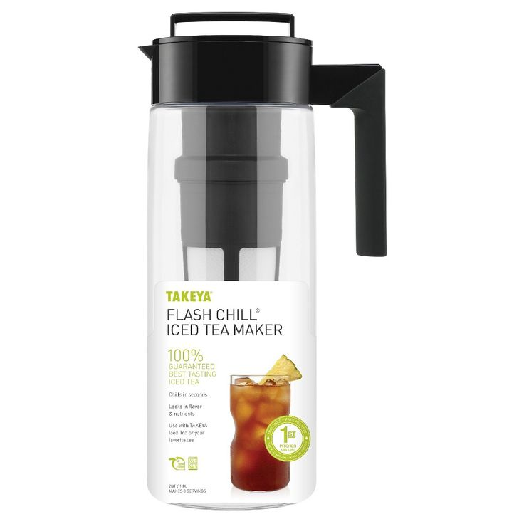 Takeya Flash Chill Iced Tea Maker - Black (2Qt)
