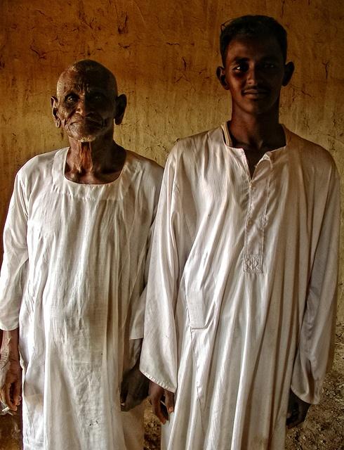 Father and son, Sudan