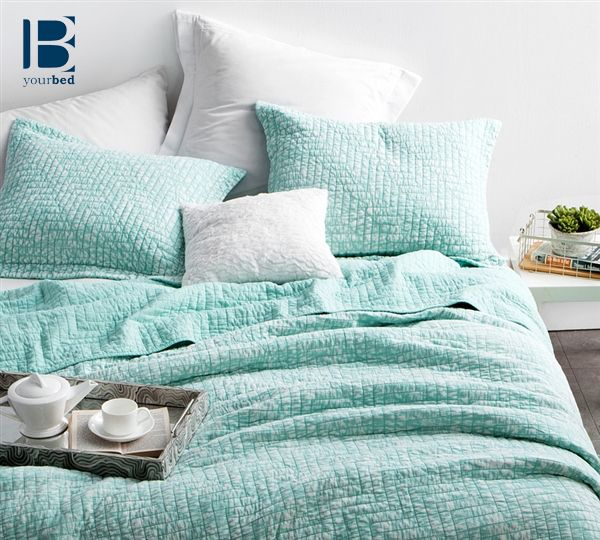 The BYB Filter Stone Washed Cotton Quilt - Hint of Mint is not only a #Beautiful_Quilt, but adds much needed #Bedroom_Decor and comfort. Mint is a #Trending color for #Bedding and truly brings a sense of peace and light to your bedroom. #BYB #Byourbed #Mint_Bedding #Mint_Quilt #Pastel_Bedding #Mint_Decor #Trending_Styles #Quilt #Light_Bedding #Acid_Wash #Pretty_Bedding #Cute_Comforter #Mint_Comforter #Mint_Blanket #Cozy_Blanket
