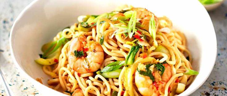 Szechuan prawn noodles
