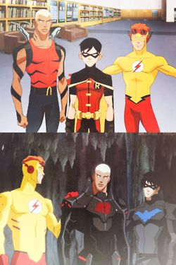 1k dick grayson Nightwing young justice kid flash wally west kaldur'ahm mygraphygraphics