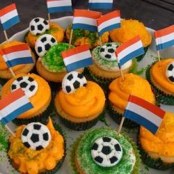 Voetbal cupcakes!