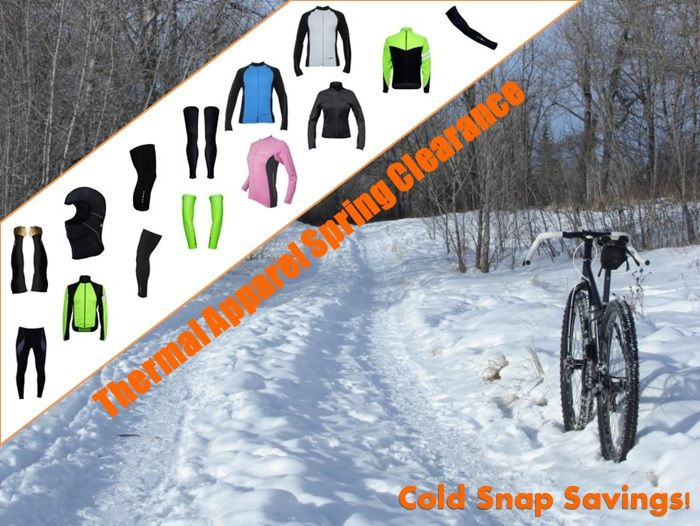 Spring Thermal Cycling Apparel Clearance Event till Sunday at http://LongsCycle.com