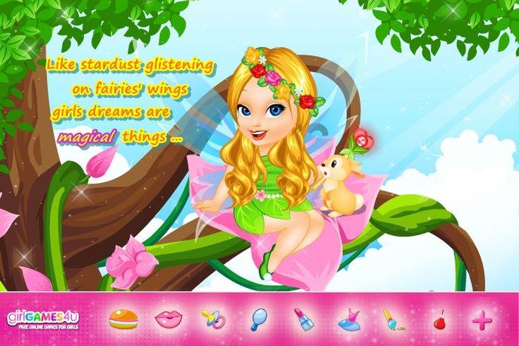 Fairylicious fantasies! ***  #Game's link: http://www.girlgames4u.com/fairytale-baby-_u_-tinkerbell-caring-game.html ✿ ✿ ✿