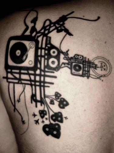 1000 ideas about dj tattoo on pinterest headphones tattoo tattoos and microphone tattoo. Black Bedroom Furniture Sets. Home Design Ideas