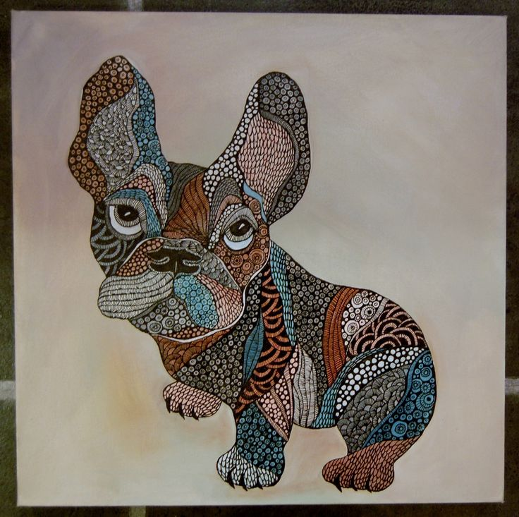 French bulldog original art 40X40cm http://www.design-of-norway.no/ www.snillpike.no