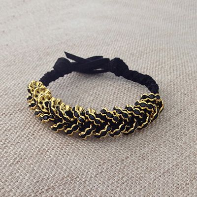 DIY Jewelry: Glammed Up Hex Nut Bracelet. Full tutorial with step-by-step instructions!