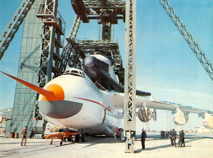 || Buran shortly after being loaded on to the Antonov An-225 designed to transport it.