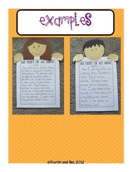 The Story of My Name Writing and Craftivity! Great for back to school!