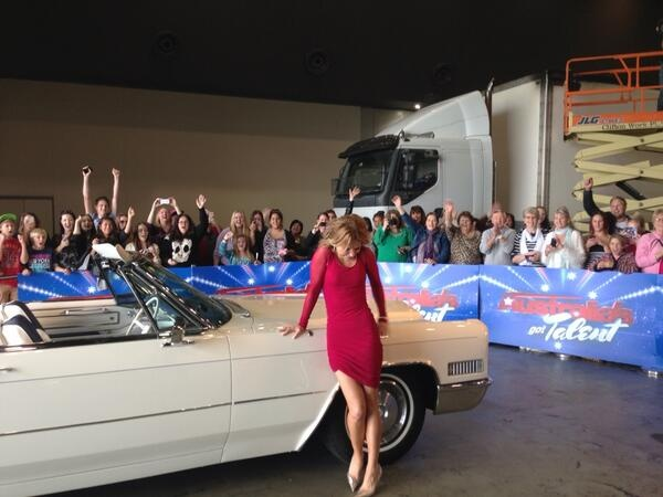 Geri Halliwell loved the 1966 Cadillac de Ville convertible during filming u=in Perth for Australias got Talent