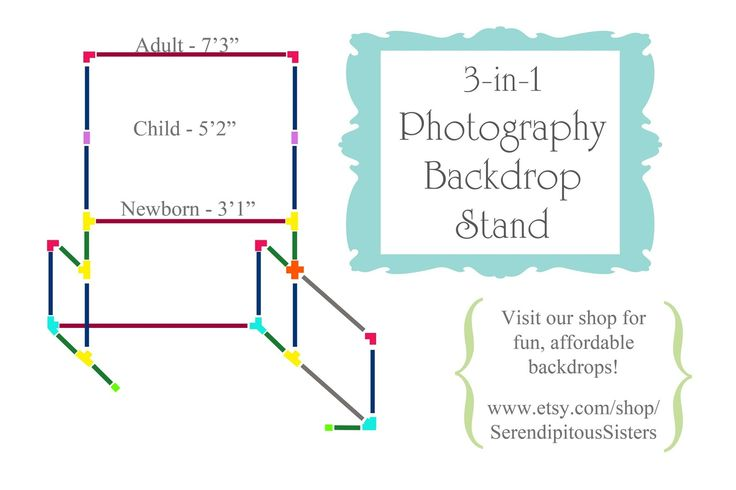 How to make a versatile 3-in-1 Photography Backdrop Stand using PVC tubing - can be altered to suit newborn to adult photography.   Tutorial by River Road Rustics.