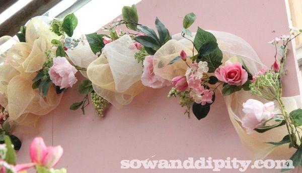 How To Use Decor Mesh Sinamay Felecia S Wedding