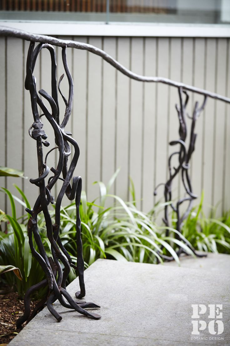 Sculptural hand rail by Francesco Petrolo Parsley Bay, Eastern Suburbs By Pepo Botanic Design