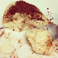 RECETA FITNESS/ Coulant de chocolate blanco fuente de proteína y baja en calorías #SNACK para antes de dormir
