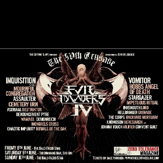 Evil Invaders 4 gig coming up in June in Sydney