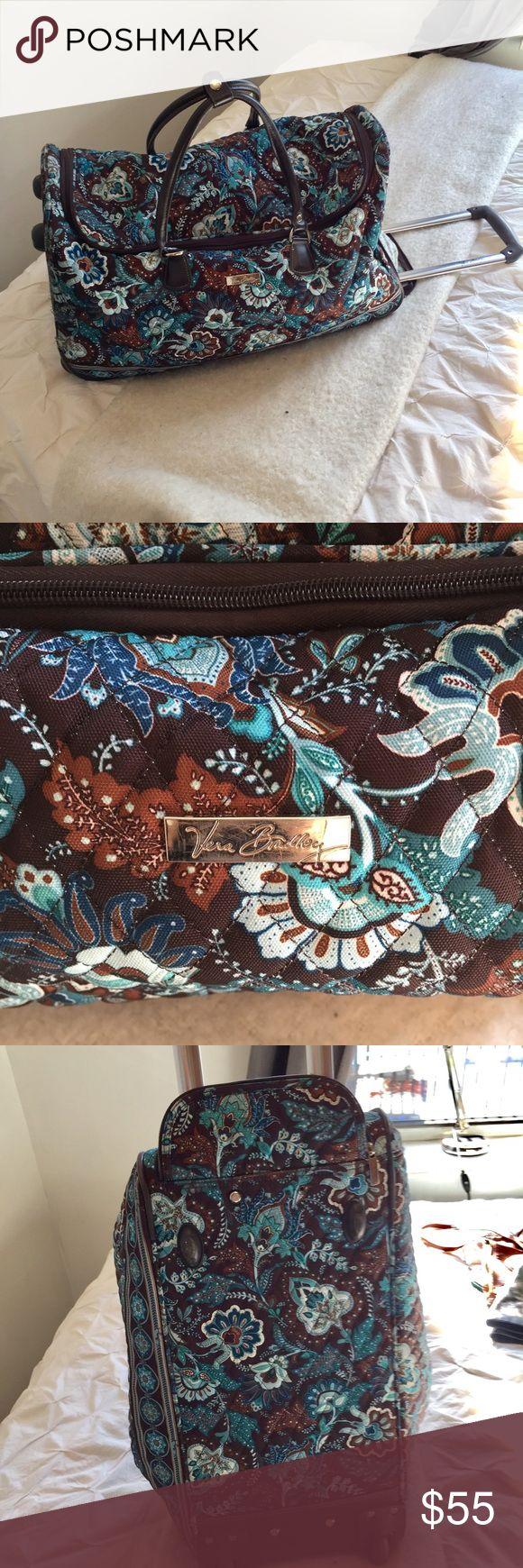 Vera Bradley wheeled duffel bag! Amazing condition wheeled Vera Bradley duffel bag. Great bag for weekend trips. Vera Bradley Bags Travel Bags