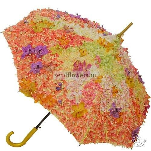 The perfect Spring Umbrella - covered with flowers
