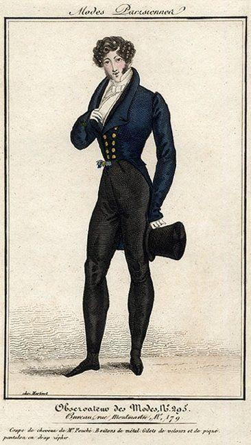 Too foppish! Modes parisiennes, 1821.