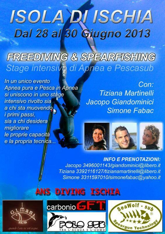 28/30.06 - Una vera e propria full immersion!  Freediving & Spearfishing - Stage intensivo di Apnea e Pescasub