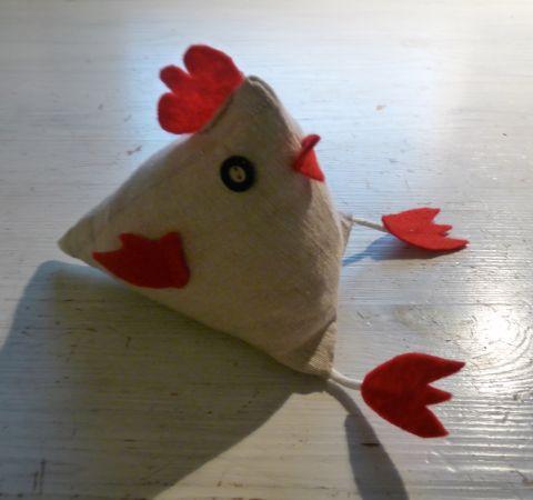 Nachdem ich bei meinen Eltern niedliche Stoffhühner gesehen hatte, habe ich mich entschlossen selbst solche Hühner zu Ostern nachzunähen. Das sollte das erste Osterdeko-Teil werden, dass ich dieses...