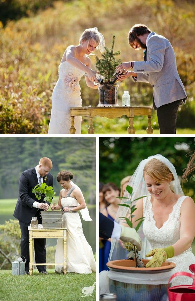 This article had a unity ceremony where the bride and groom light the unity candle and then everyone in attendance has a candle lit to show unity with the new couple. love it.