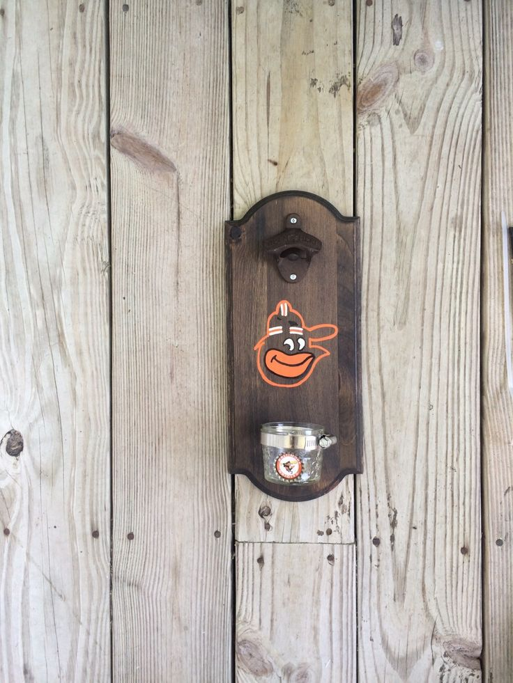 Baltimore Orioles Rustic Wall-mounted Bottle Opener by TheNSDHousewives on Etsy https://www.etsy.com/listing/240039779/baltimore-orioles-rustic-wall-mounted