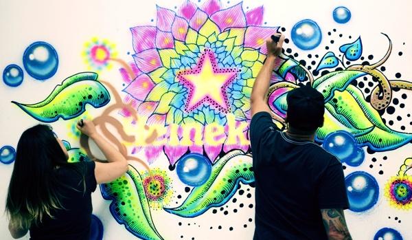 Art for Heineken. Celebrating 140th aniversary. #Heineken #YourFutureBottle