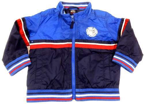 BRUMLA.CZ – Značkový dětský a dospělý second hand a outlet, použité oděvy pro děti a dospělé - Modro-tmavomodrá šusťáková bundička s potiskem zn.Next