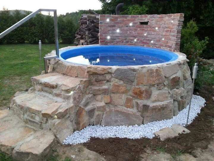 89 best pool images on pinterest backyard patio decks for Gartengestaltung trampolin