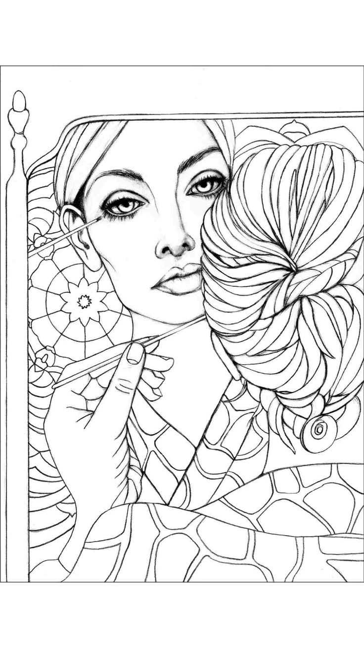 624 Best Images About Coloring Pages Portraits For Grown