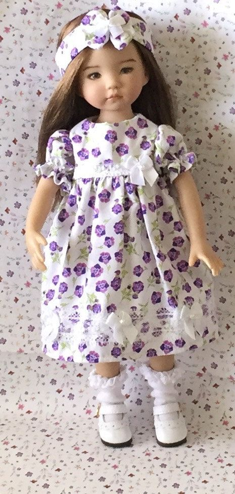 Effner Little Darling Doll My Purple by ThisandThatCreations