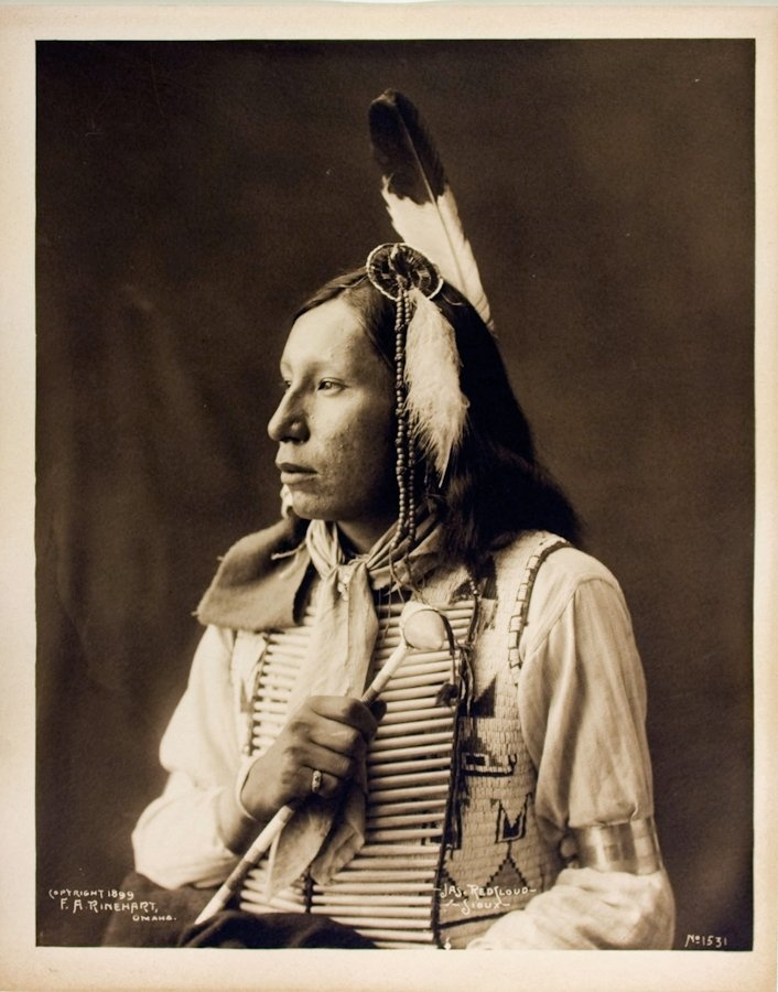 1899 photograph of James Red Cloud  (Mahpiya Luta), Oglala Lakota, grandson of famous chief, Red Cloud.  *s*