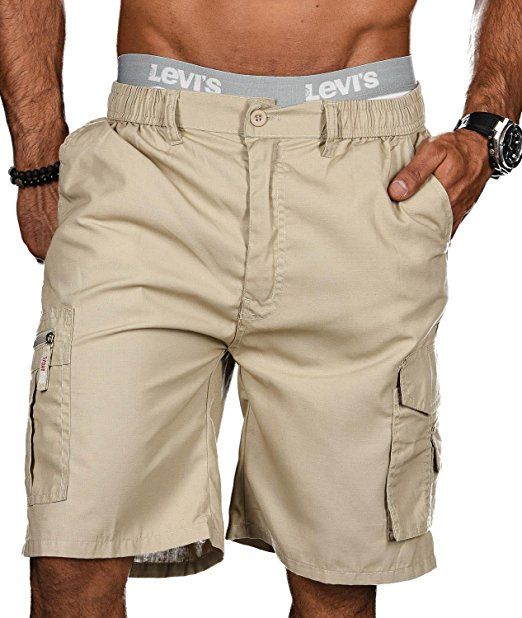 ec6f213f2fba38 Golden Brands Selection Stylische Herren Sommer Shorts kurze Hose Bermuda  Short Knielang Dehnbund B413 [B413
