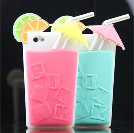 Lemon Drink Cup Silicon Case for iPhone 4/4S/5/5S, also for Galaxy Note 3 - Discount iPhone 5S Cases - iPhone 5 5S Cases