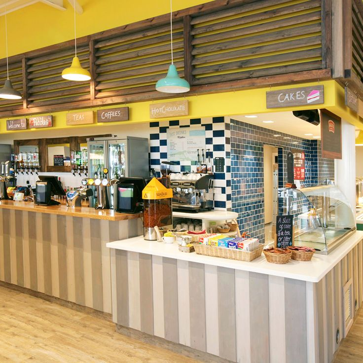 Servery for hot and cold drinks, ice cream and carvery, Ladram Bay Holiday Park - Pebbles Restaurant, Devon, England
