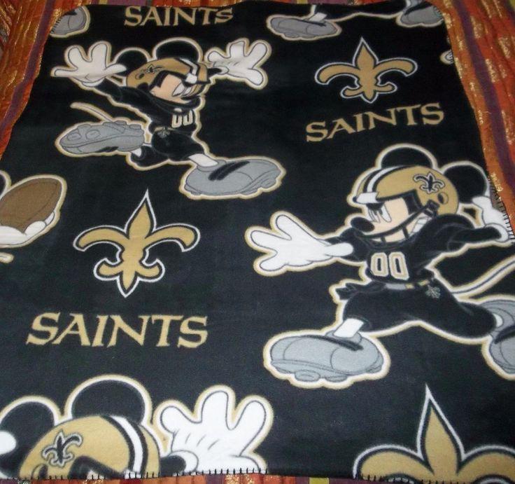 "Disney's Mickey Mouse NFL New Orleans Saints Lightweight Fleece Throw 40"" x 50"" #NewOrleansSaints"
