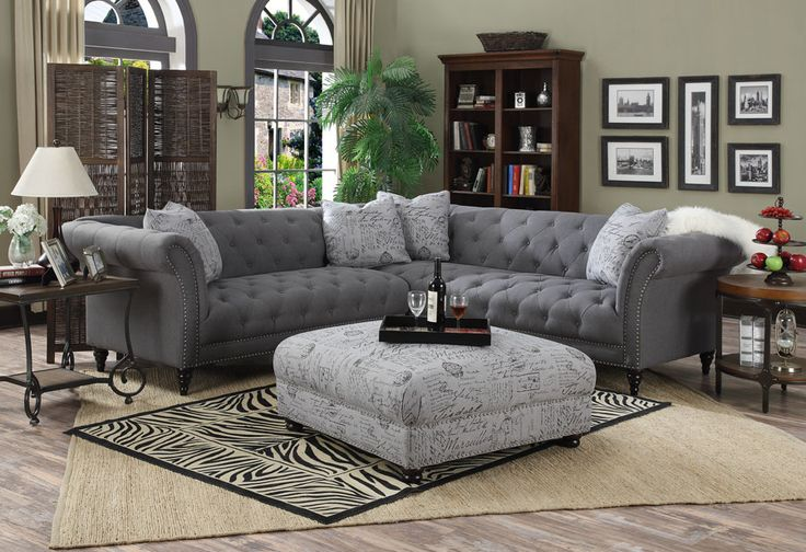 Antoinette Tufted Sectional (U4285-03) ~ Emerald Home Furnishings