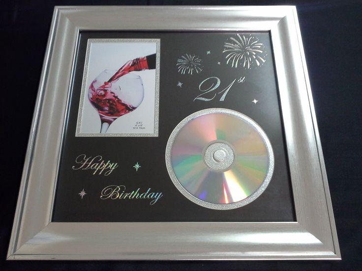 21st Birthday Recordable DVD Frame