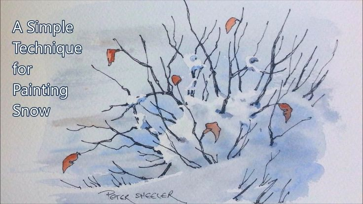 A simple technique for painting snow. Good beginner lesson using 3 color...