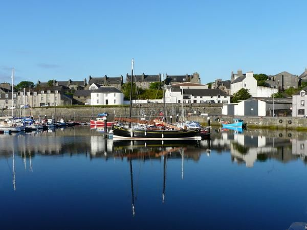Wick Harbor, Scotland, where Robert Louis Stevenson spent the autumn of 1868.