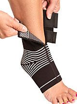 Dynamic Ankle Compression Sleeve - Cho-Pat Support Wrap has Velcro tape for easy on & gel padding | Gold Violin